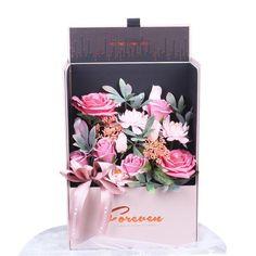Adore Home Living - Luxury Soap Flowers Pink Gift Box Pink Gift Box, Pink Gifts, Artificial Flower Arrangements, Artificial Flowers, Perth, Bordeaux, Bath Flowers, Flowers Australia, Rose Bath