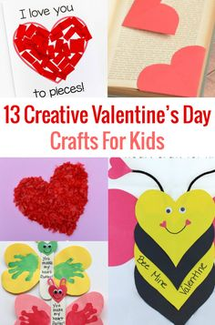 Are you looking for some fun activities to keep the kids entertained on Valentine's Day?  These 13 Creative Valentine's Day Crafts for Kids are surprisingly a little silly, but sure to delight your little sweeties.  What's not to love? #valentines #kidscraft  via @socalfieldtrips
