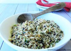 Quinoa with Pistachios, Lemon and Mint