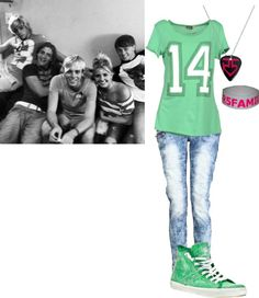"""If i were in R5"" by adorkable-directioner ❤ liked on Polyvore"