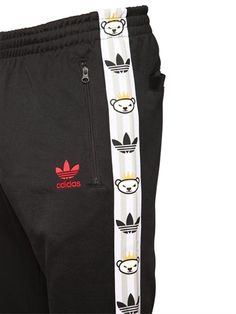 Black adidas Originals Nigo Men/'s Pipe Sweatpants Trackies Track Suit
