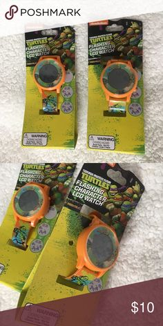 Ninja turtles watches 2 brand new Teenage Mutant Ninja Turtles watches. Selling them as a set. Perfect as a gift for the little ones in your life. Or just a great tool to have  for implementing responsibility and keeping track of time. Accessories Watches