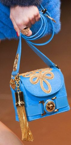 Versace Mode Bleu, Maroquinerie, Valise, Sac À Main, Pochette, Sac Versace 771aca10b05