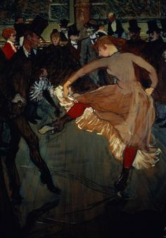 Henri de Toulouse-Lautrec - The Dance at the Moulin Rouge (detail showing Valentin Desosse), 1889
