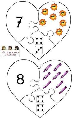 Numbers Preschool, Learning Numbers, Preschool Math, Teaching Kindergarten, Math Classroom, Teaching Kids, 3 Year Old Activities, Kids Learning Activities, Visual Perceptual Activities