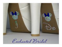 NEW Disney Inspired Minnie I Do Shoe Stickers You Pick Color Sparkly Wedding Shoe Decals. $7.99, via Etsy.