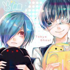 Kaneki Ken and Kirishima Touka from Tokyo Ghoul