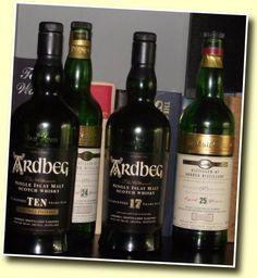 Ardbeg whisky 10 yr in the same neighborhood as Lagavulin and Laphroaig