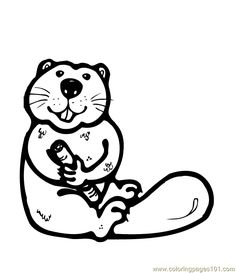 Osu Beaver Coloring Pages: Beaver Coloring Sheet Reinanco,Color Printable Coloring Pages, Coloring Pages For Kids, Coloring Sheets, Beaver Animal, Make And Sell, Mammals, Football, Mini, Fictional Characters