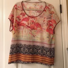 Anthropologie Blouse worn once! sheer silk material Anthropologie Tops Blouses