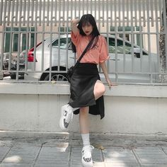 Japonese Girl, Happy 17th Birthday, Cool Girl, Leather Skirt, Skirts, Instagram, Nature, Fashion, Moda