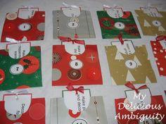 Christmas Activity A Day Countdown Calendar by deliciousambiguity, $5.00