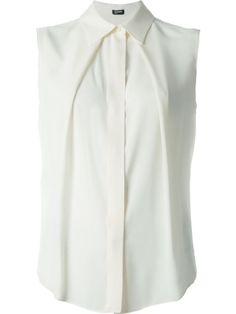 Jil Sander Navy Camisa com pregas