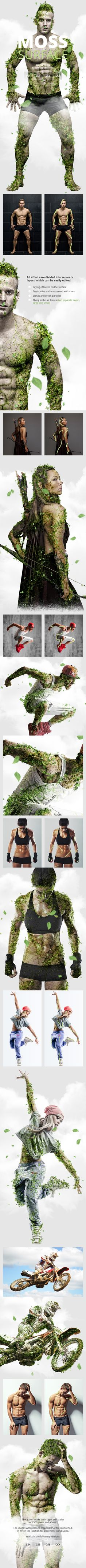Moss Photoshop Action - Photo Effects Actions - Creative design ideas.