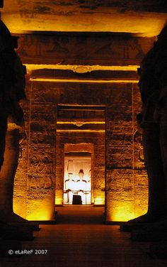 The Great Temple of Rameses II interior