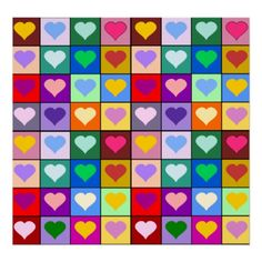 Colorful Heart Squares