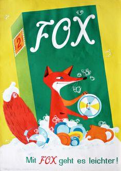Fox Washing Detergent (1953) by H. Winterberg