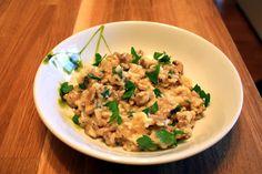 Sausage & Mushroom Risotto    Looks delicious!