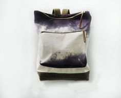 Canvas & Leather City Backpack Haversack in Hand by Mclovebuddy. $140.00, via Etsy.