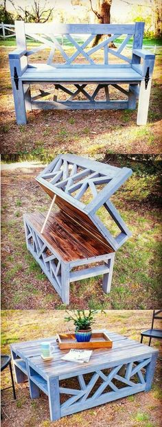 Bench into table. This looks so interesting.