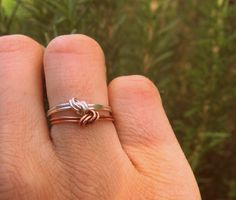 Sterling Silver and Copper Knot Ring   Wear It Jewelry
