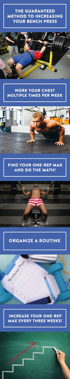 Want to increase your bench press? Shake off the old lifting philosophy in favor of daily undulating periodization training to raise your 1-rep max on chest day, leg day and more. #benchpress #fitness #workout