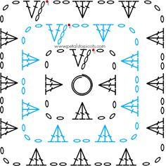 Crochet Granny Square Stitch Diagram