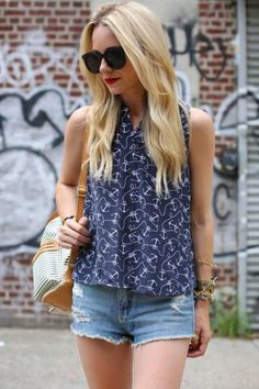 Style Guide: Sleeveless Button Downs