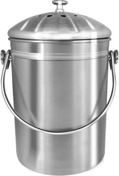 premium quality stainless steel compost bin 13 gallon includes charcoal filter