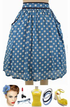 "BRAND NEW at Le Bomb Shop! The adorable ""Polly Pockets Polka Dot Skirt"" in 4 colors! This has POCKETS, ladies!! Only $42 with FAST & FREE U.S. s/h! Buy them all here at Le Bomb Shop: http://lebombshop.net/search?type=product&q=polly+pockets+polka+dot+skirt+&search-button.x=0&search-button.y=0"
