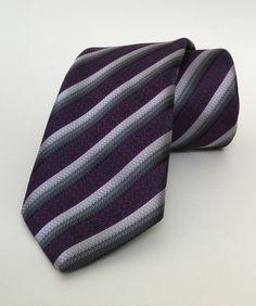 Purple Striped Mens Tie 7 cm (2,95 #handmadeatamazon #nazodesign