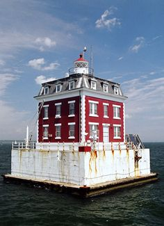 Head South on the Thames from us and you'll find New London Ledge Lighthouse... rumor is it's haunted...