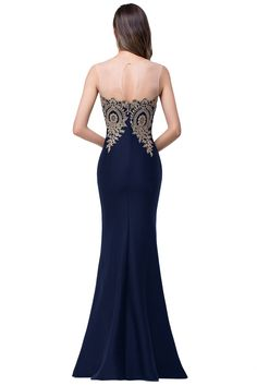 c13cf63985ff Womens Navy Blue Lace Mermaid Prom Evening Gowns Maxi Dress 4 Navy ***  Inspect