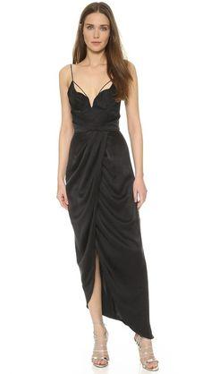 Zimmermann Sueded Balconette Long Dress