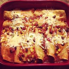 Black Bean Enchiladas. Healthy and so easy! Looks so yummy!