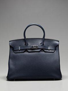 Hermes  Hermes 35cm Royal Blue Togo Birkin Bag
