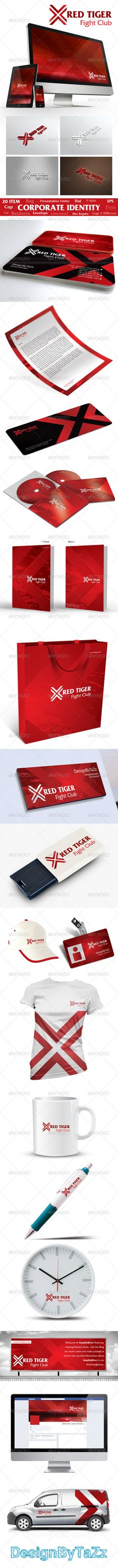 Red Tiger Corporate Identity Package - GraphicRiver Item for Sale