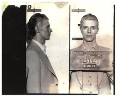David Bowie was arrested in upstate New York in March 1976 on a felony pot possession charge. 29 at the time, he was nabbed along with Iggy Pop and two others at a Rochester hotel following a concert. Bowie was held in the Monroe County jail for a few hours before being released. The Rochester Police Department mug shot was taken three days after Bowie's arrest, when the performer appeared at City Court for arraignment.