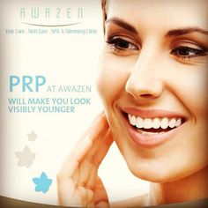 You WILL LOOK VISIBLY YOUNGER with Awazen's PRP advanced treatment! For more info or to book an appointment pls call +971 2 4411944