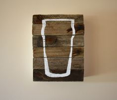 the Pint Glass - Hand painted Sign - Bar - Beer - Hostess Gift - Beer Lover - Gifts for Him - New Years Decor. $26.50, via Etsy.