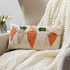 Carrots Throw Pillow | Kirklands
