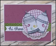 Handmade Card using the Builder Birdcage stamp set by Stampin' Up!