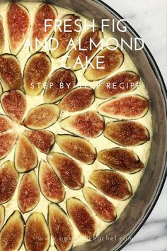 Fig Recipes, Sweet Recipes, Cake Recipes, Cooking Recipes, Summer Cakes, Summer Desserts, Fancy Desserts, Fig Sauce, Recipes