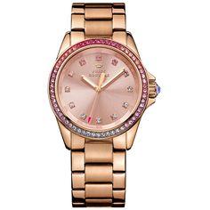 38553063ac7 Relógio feminino Juicy Couture com pulseira em aço rosé. 1901207 Acessórios  Femininos