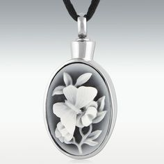 Spring Butterfly Stainless Steel Cremation Jewelry - Engravable
