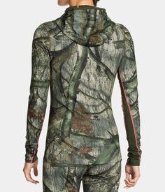 Women's ColdGear® Infrared EVO Hoodie, Mossy Oak Treestand, Back