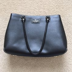 """Kate Spade Wellesley Elena Purse Authentic Kate Spade purse. Pebbled structured leather with gold accents. Inside has signature Kate Spade polka dot fabric with 2 inside zip compartments and 2 inside pockets. Strap drop is 8"""". Very good /great condition. Original dust bag included. kate spade Bags Shoulder Bags"""