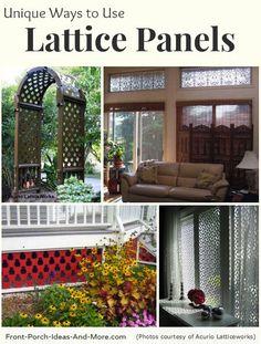 Vinyl Lattice Panels   Black Lattice Panels   Privacy Lattice Panels