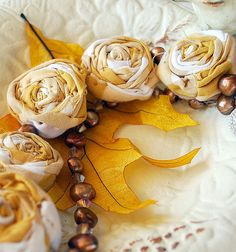 fabric flowers....awesome!