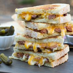 Cajun Grilled Cheese spiced up with Andouille sausage.